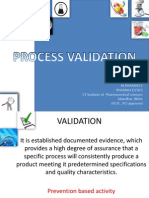 Process validation of pharmaceuticals