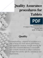 In process Quality control tests for pharmaceuticals.
