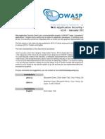 Web App Sec Checklist 2012 En