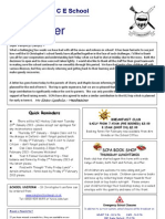 newsletter 25 Jan 12