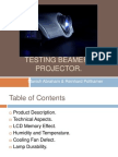 Measuring tests for a Beamer/ prrojector  by Manish Abraham