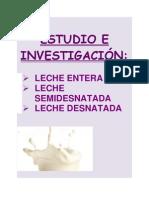 Trabajo investigación de la leche