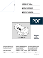 Flotec Water Pumps Owner's manual - Model FP125