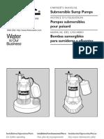 Flotec Water Pumps Owner's manual - Model FP526