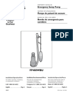 Flotec Water Pumps Owner's manual - Model FP814-
