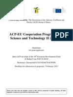 ACP-EU S&T II Guideline