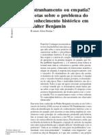 Walter Benjamin. História e estranhamento. Revista Artefilosofia. Nr 01. Romero Freitas.pdf