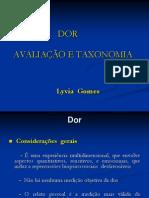 dor avaliaçao e taxonomia