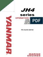 Yanmar JH4 Marine Diesel Operations Manual