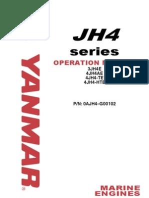 Yanmar JH4 Marine Diesel Operations Manual | Internal