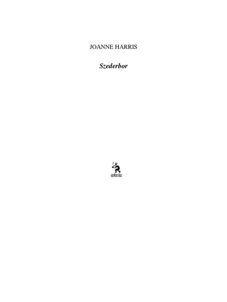 Joanne Harris - Szederbor 02b6cc624f