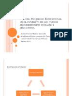 Rol Del Psicc3b3logo Educacional en El Contexto de 2
