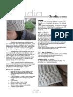Knit hat Claudia pattern