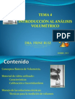 Tema 4. Introduccion Al Analisis Volumetrico