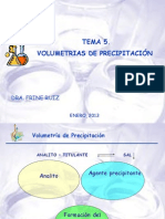 Tema 5 Volumetrias de Precipitacion
