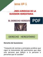Tema Nº 1. Relaciones Jurídicas de la Sucesión Hereditaria.