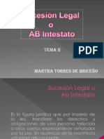 Tema Nº 2. Sucesión Legal o Ab Intestato