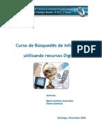 Curso Busqueda de La Informacion Por Recursos Digitales. Chile. Proyecto y Resultados Finales. 2009