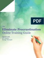 Eliminate Procrastionation