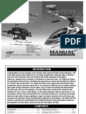PV0354 Thunder Tiger Raptor Hélicoptère Pièces De Rechange Rotor Hub