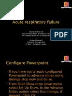 acute resp failure