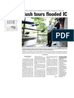 Bush tours flooded IC