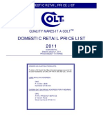 Colt 2011 Retail Price List