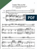 Debussy Piano Trio in G