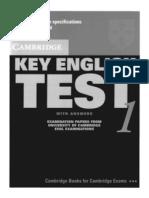 KET - Key English Test 1 (With Answers) - Cambridge University Press