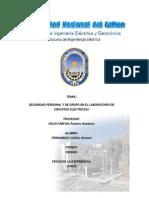 Seguridad personal y de grupo en el laboratorio de Circuitos Eléctricos I