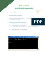 Install GeoMedia 6