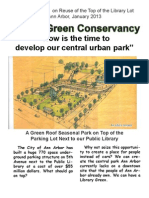 Citizen's Report on Reuse of the Top of the Library Lot, January 2013
