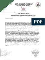 Amenaza Inminente la degradación de Bonos para la UPR