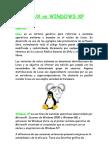 Linux vs. Windows XP Alex & Myri