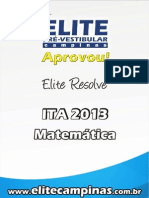 Elite Resolve ITA 2013-Matematica