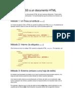 Aplicando CSS a Un Documento HTML
