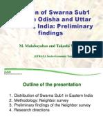 Diffusion of Swarna Sub1 seeds in Odisha and Uttar Pradesh, India Preliminary findings