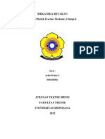 MEKANIKA RETAKAN - Elastic Plastick Fracture Mechanic, J-Integral