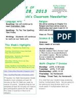 January 28 Newsletter