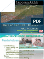 Out Line Plan & DED Drainase Kota Maumere Kpg
