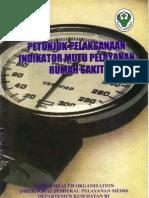 Dirjen Yanmed Tahun 2001 - Petunjuk Pelaksanaan Indikator Mutu Pelayanan Rumah Sakit
