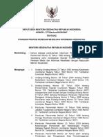 Permenkes No. 377 Tahun 2007 - Standar Profesi Perekam Medis & Informasi Kesehatan