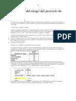 El análisis del riesgo del proyecto de Prodepsa