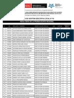 UGEL 03 DIRECTIVOS 2013 Resultados Examen