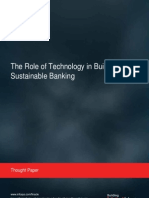 The Role of Technology in Building Sustainable Banking