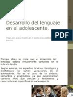 Adolescencia y Lenguaje