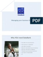 DataBank Online Backup Presentation