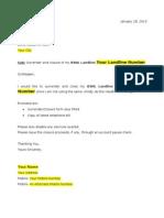 BSNL Broadband closure Application form