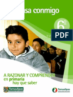 Piensa Conmigo 6to Primaria Tamaulipas 2012 2013