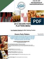Oscars Party Platters Menu